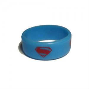 Вейп бэнд (Vape band) голубой SUPERMAN 26.5x10 мм.