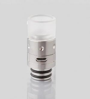 Дрип тип (Drip Tip) 510 Hybrid SS + POM Silver