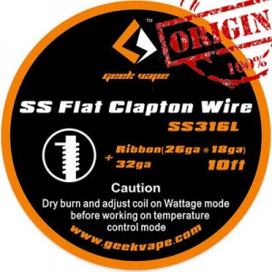 GeekVape 10ft SS Flat Clapton Wire