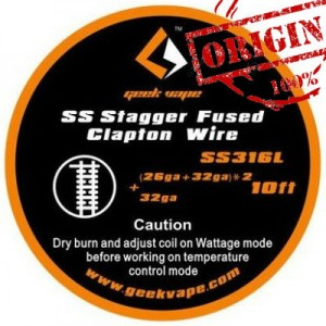 GeekVape 10ft SS Stagger Fused Clapton Wire