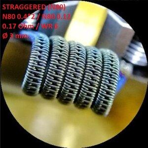 Спираль HM Straggered - Ni80 (2 шт. - пара)